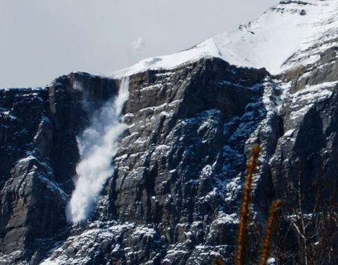 Rundle Mountain bombing by helicopter, Canmore