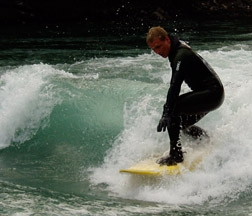 River Surfing Kananaskis River