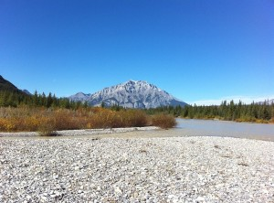 Cascade Mountain, Bow River, in the Autumn