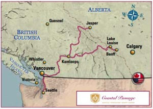 Rocky Mountaineer Coastal Passage Route - 2013